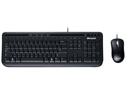Kit Teclado e Mouse Microsoft - Wired 600 APB-00005 - Desktop 600