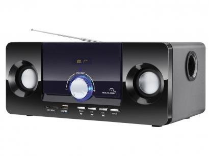 Caixa de Som Multilaser  2.1 20W RMS MP3 Bass Box - SP117 - Neutro - Multilaser