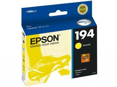 Cartucho de Tinta Epson T194420-BR Amarelo - Original