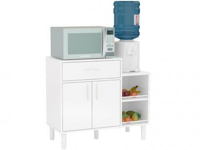 Armário para Área de Serviço e Cozinha Multiuso    - 2 Portas 1 Gaveta Montauri Politorno 86x77cm