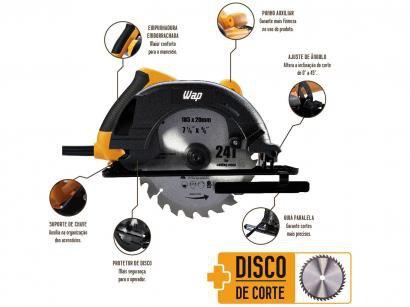 "Serra Circular Wap ESC1400 - 7 ¼"" 1400W"