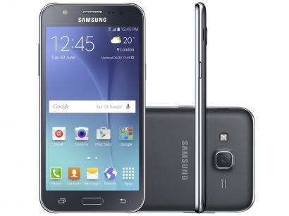 Smartphone Samsung Galaxy J5 Duos 16GB Preto - Dual Chip 4G Câm. 13MP + Selfie 5MP com Flash