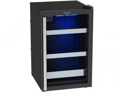 Expositor/Cervejeira Vertical 1 Porta 82 Litros - Venax Blue Light