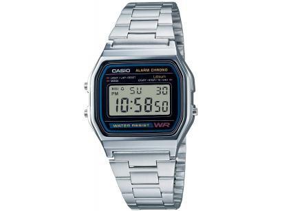 Relógio Unissex Casio Digital Resistente à Água - Cronômetro Vintage A158WA-1DF