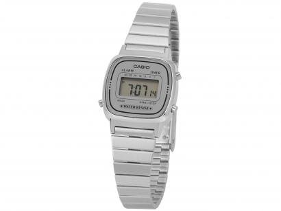 Relógio Feminino Casio Digital  - Vintage LA670WA-7DF Prata