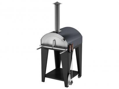 Forno De Pizza Metávila Garden 600EX - à Lenha em Aço Carbono