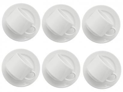Jogo de Xícaras para Chá 12 Peças - Biona Cerâmica Donna Reta