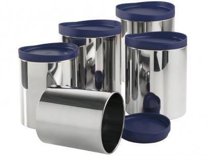 Conjunto Pote 5 Peças com Tampa Brinox - Suprema 2117/162