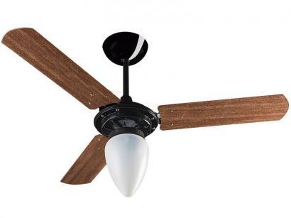 Ventilador de Teto Ventisol Wind 3 Pás  - 1 Velocidade Mogno para 1 Lâmpada
