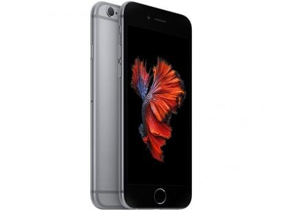 "iPhone 6s Apple 32GB Cinza Espacial 4G Tela 4.7"" - Retina Câm. 12MP + Selfie 5MP iOS 11 Proc. A9"