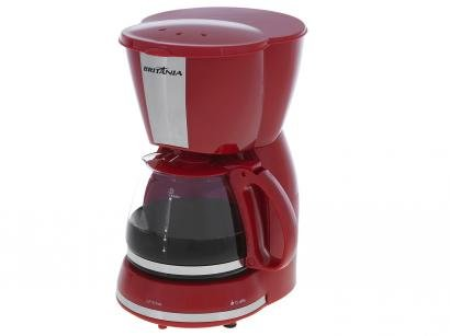 Cafeteira Elétrica Britânia CP15 Inox Vermelha - 15 Xícaras