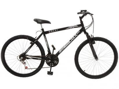 Bicicleta Colli Bike CBX 750 Aro 26 18 Marchas - Suspensão Dianteira Freio V-brake