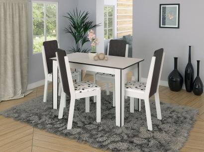 Conjunto de Mesa com 4 Cadeiras - Madesa Naomi