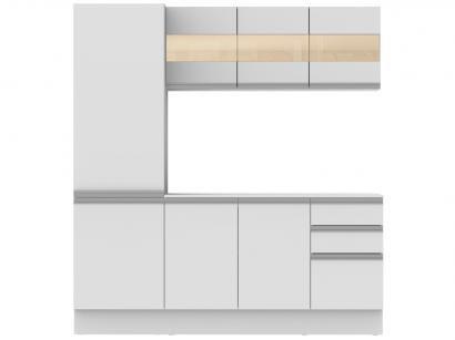 Cozinha Compacta Madesa Smart G200750909 - com Balcão 8 Portas 2 Gavetas MDF