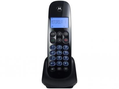 Telefone Sem Fio Motorola MOTO750-SE - Identificador de Chamada Viva Voz Preto
