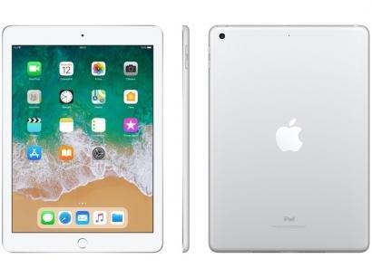 "iPad Apple 32GB Prata Tela 9,7"" Retina - Proc. Chip A9 Câm. 8MP + Frontal iOS 11 Touch ID"