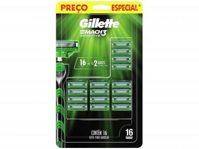 Carga Gillette Mach3 Sensitive - 16 Cargas
