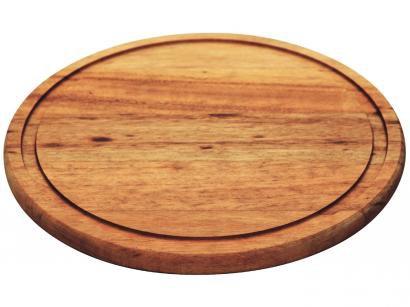 Prato para Churrasco de Madeira Redondo - Tramontina 10429/100