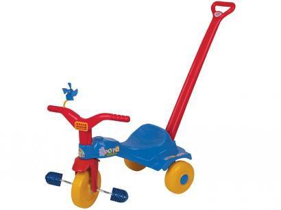 Triciclo Infantil Magic Toys Tico Tico Popó - Haste Removível
