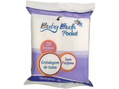 Lenços Umedecidos Baby Bath Pocket - 20 Unidades