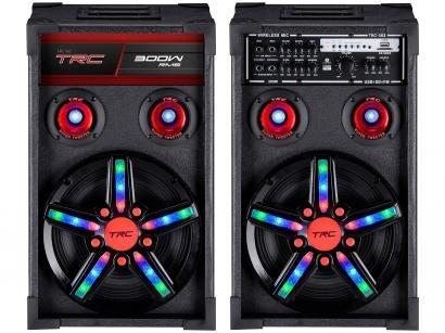 Caixa de Som Amplificadora TRC Caixa Acústica  - TRC 362 300W Bluetooth USB com Microfone