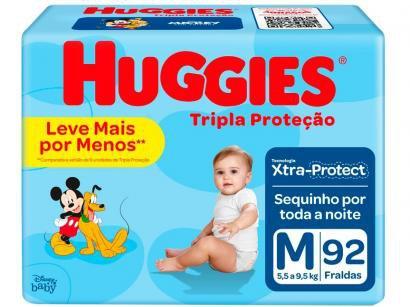 Fralda Huggies Tripla Proteção Tam. M - 5,5 a 9,5kg 92 Unidades
