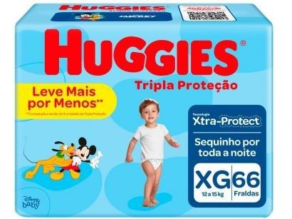 Fralda Huggies Tripla Proteção Tam. XG - 12 a 15kg 66 Unidades