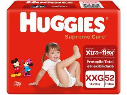 Fraldas Huggies Supreme Care Tam XXG - 52 Unidades
