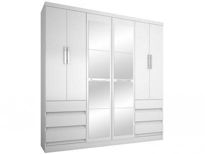 Guarda-roupa Casal com Espelho 6 Portas - 6 Gavetas Araplac 217729-50