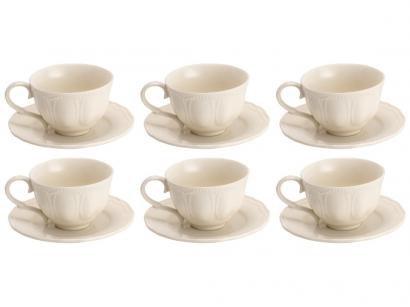 Jogo de Xícaras para Chá Porcelana 6 Peças - Wolff Eden Bleu