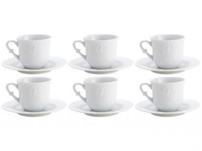 Jogo de Xícaras para Café Porcelana 6 Peças Wolff  - Vendange