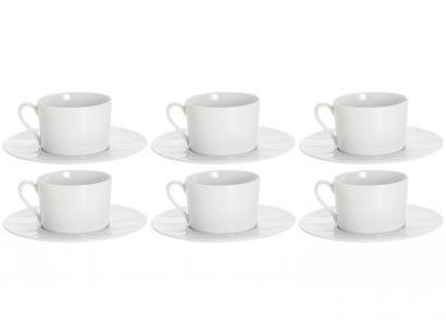 Jogo de Xícaras para Chá Porcelana 6 Peças - Wolff Limoges Vague