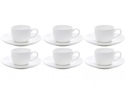 Jogo de Xícaras para Café Porcelana 6 Peças Wolff  - Nice Plain