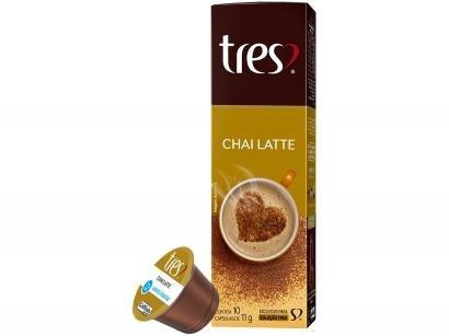 Cápsula de Chai Latte 3 Corações TRES - 10 Unidades