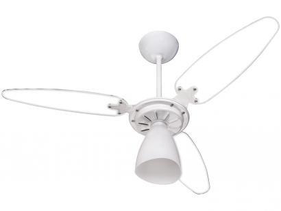 Ventilador de Teto Ventisol Premium Wind Light - 3 Pás Branco e Transparente para 1 Lâmpada