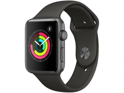 Apple Watch Series 3 42mm GPS Integrado Bluetooth - Pulseira Esportiva 8GB Alumínio Resistente a Água