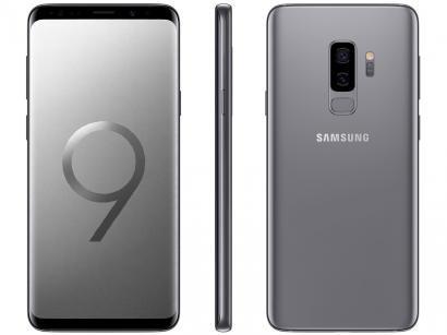"Smartphone Samsung Galaxy S9+ 128GB Cinza 4G - 6GB RAM Tela 6,2"" Câm. Dupla + Câm. Selfie 8MP"