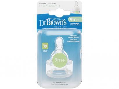 Bico para Mamadeira Silicone 2 Unidades - Dr. Browns Options Tradicional Corte Y