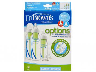 Kit Mamadeira Dr. Browns Natural Flow Options  - 3 Unidades