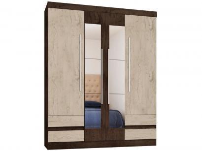 Guarda-roupa Casal 4 Portas 4 Gavetas - Araplac Lorena com Espelho