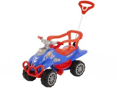 Carrinho de Passeio Infantil Pedal Cross Turbo - com Empurrador Emite Sons Calesita
