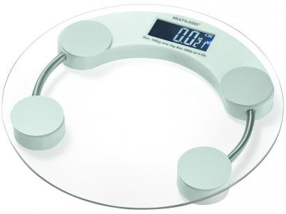 Balança Digital até 180kg Antiderrapante - Multilaser Eatsmart HC039
