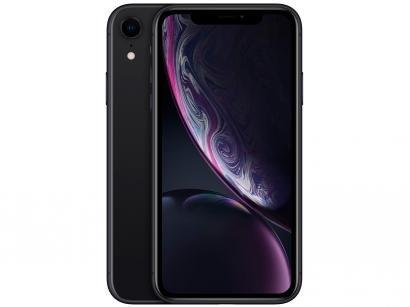 "iPhone XR Apple 128GB Preto 4G Tela 6,1"" Retina - Câmera 12MP + Selfie 7MP iOS 12 A12 Bionic Chip"