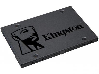 SSD 480GB Kingston Sata Rev. 3.0 - Leituras 500MB/s e Gravações 450MB/s A400