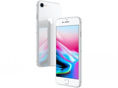 "iPhone 8 Apple 256GB Prata 4G Tela 4,7"" - Retina Câm. 12MP + Selfie 7MP iOS 11"