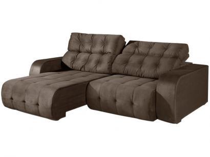 Sofá Retrátil e Reclinável 3 Lugares Suede - Reta Moderna Dover American Comfort