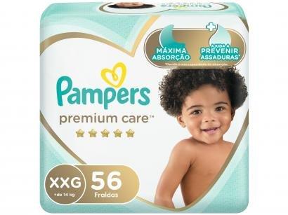 Fralda Pampers Premium Care XXG - + de 14kg 56 Unidades