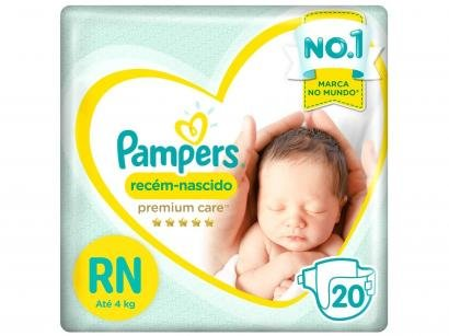 Fralda Pampers Premium Care RN - 20 Unidades