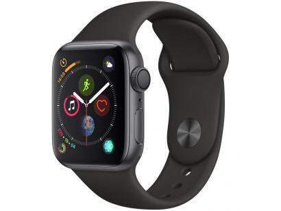 Apple Watch Series 4 40mm GPS Integrado Wi-Fi - Bluetooth Pulseira Esportiva 16GB Caixa Alumínio