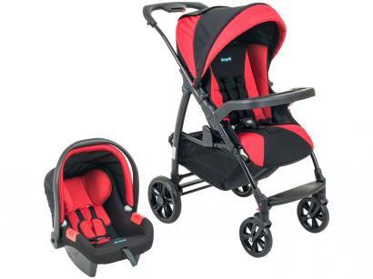 Carrinho de Bebê Passeio Burigotto Travel System  - Evol Reclinável 4 Posições para Crianças até 15kg